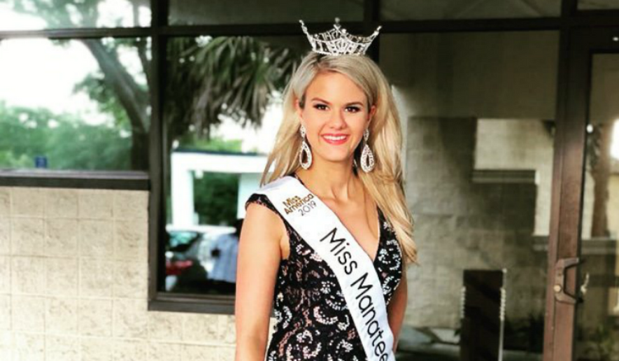 Rachel Barcellona, shown here in a photo via her Twitter page, is depicted here. An autistic woman, Miss Barcellona is competing for Miss Florida 2019. (Twitter/@BarcellonaR)