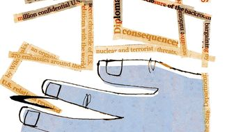 Illustration on classified leaking and journalism by Donna Grethen/Tribune Content Agency