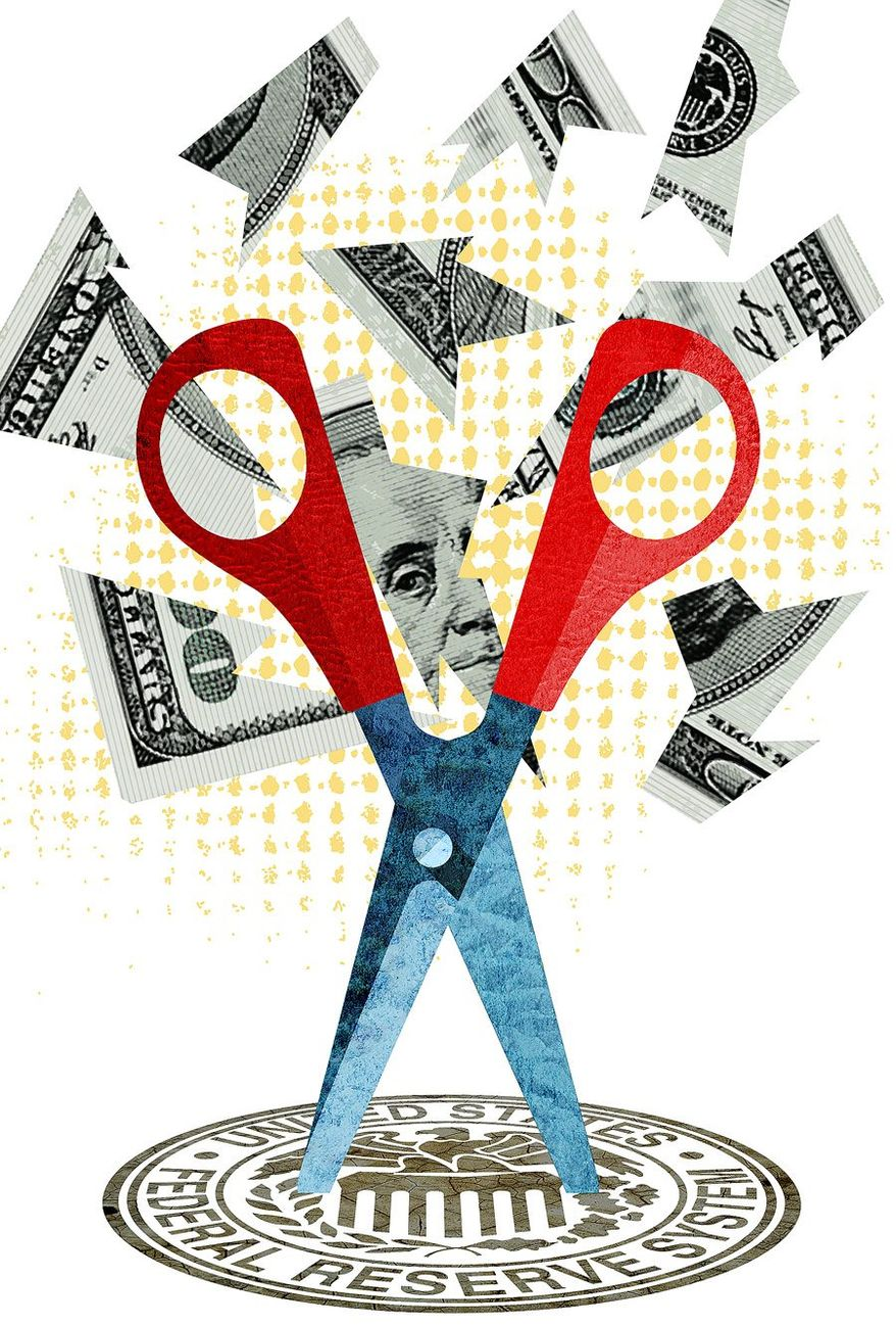 Federal Reserve Cuts Illustration by Greg Groesch/The Washington Times