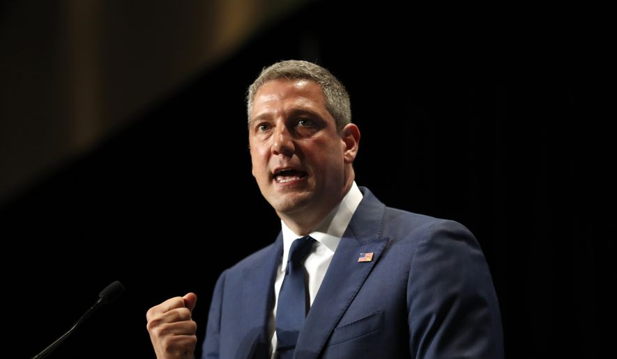 Democratic presidential candidate Tim Ryan speaks during the Iowa Democratic Party's Hall of Fame Celebration, Sunday, June 9, 2019, in Cedar Rapids, Iowa. (AP Photo/Charlie Neibergall) **FILE**
