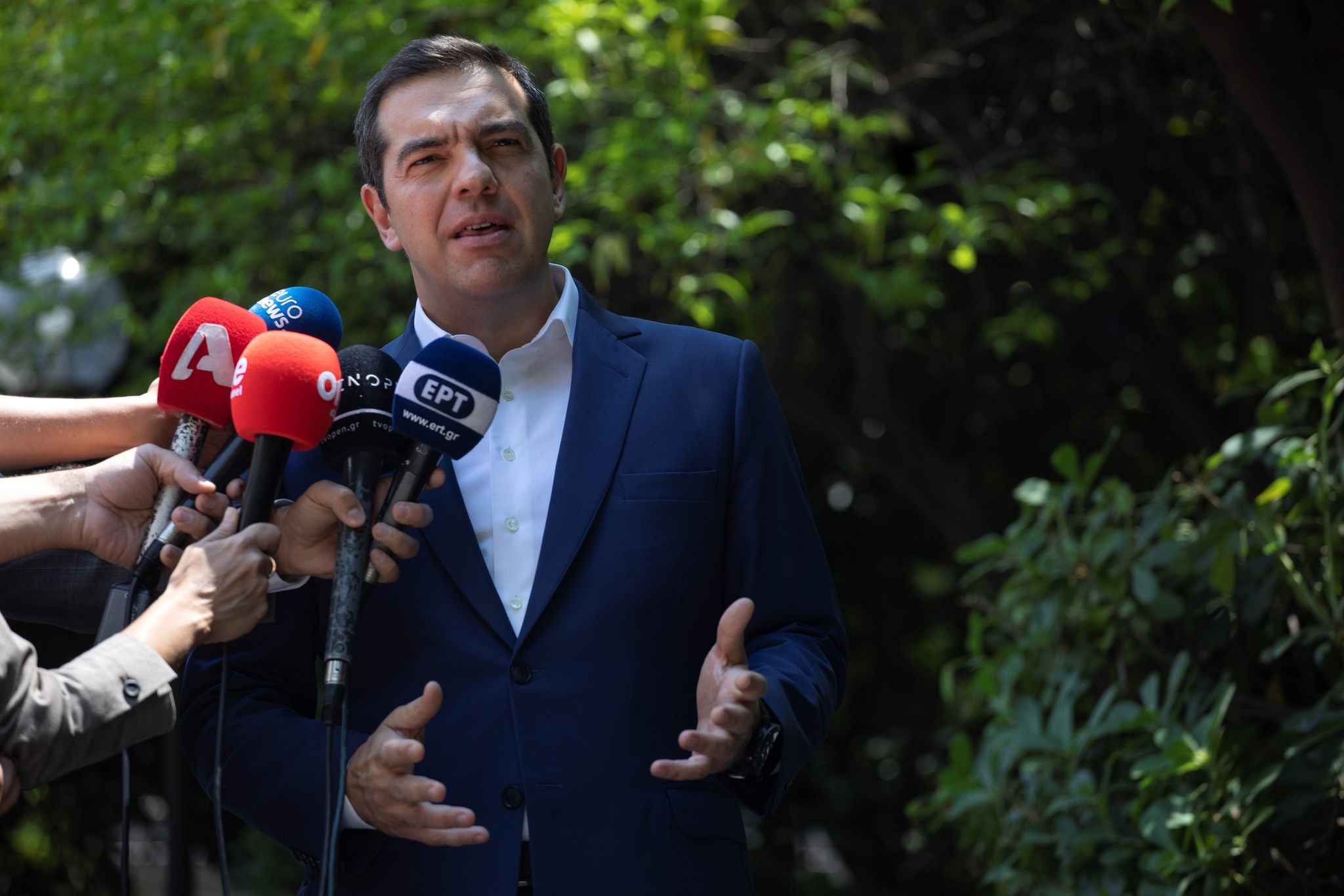 Conservative surge in EU elections upends Tsipras' coalition in Greece