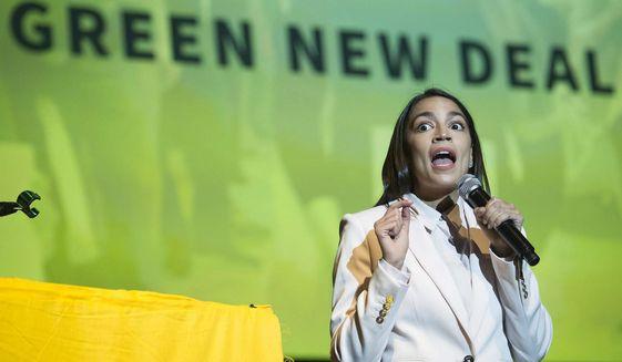 Rep. Alexandria Ocasio-Cortez, New York Democrat, is a member of the Democratic Socialists of America. (Associated Press)
