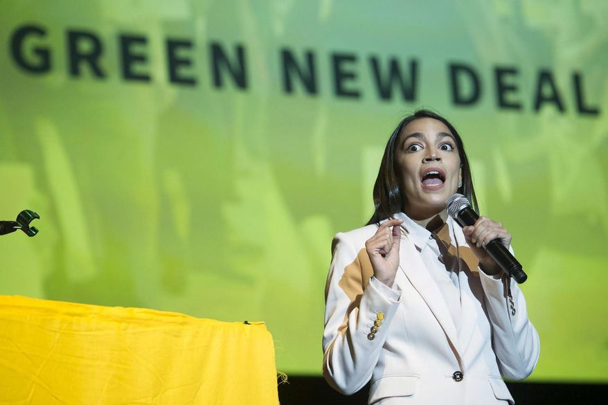 Rep. Alexandria Ocasio-Cortez, New York Democrat, is a member of the Democratic Socialists of America. (Associated Press)