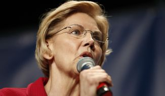 Democratic presidential candidate Elizabeth Warren speaks during the Iowa Democratic Party's Hall of Fame Celebration, Sunday, June 9, 2019, in Cedar Rapids, Iowa. (AP Photo/Charlie Neibergall) **FILE**
