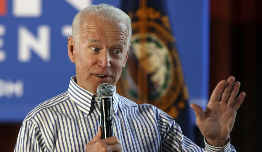 In this June 4, 2019, photo, former Vice President and Democratic presidential candidate Joe Biden speaks during a campaign event in Berlin, N.H. (AP Photo/Elise Amendola)