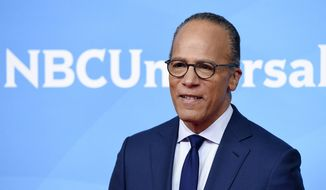 "In this May 2, 2018, file photo, Lester Holt, the anchor of ""NBC Nightly News with Lester Holt,"" poses during the 2018 NBCUniversal Summer Press Day in Universal City, Calif. Holt and four of his NBC News colleagues will share moderating duties for the first debate of 2020 Democratic presidential contenders. The debate, shown on NBC News networks, will unfold over two nights in Miami on June 26 and June 27. (Photo by Chris Pizzello/Invision/AP, File)"