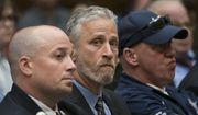 Entertainer and activist Jon Stewart lends his support to firefighters, first responders and survivors of the Sept. 11, 2001, terror attacks at a hearing by the House Judiciary Committee as it considers permanent authorization of the Victim Compensation Fund, on Capitol Hill in Washington, Tuesday, June 11, 2019. (AP Photo/J. Scott Applewhite) ** FILE **