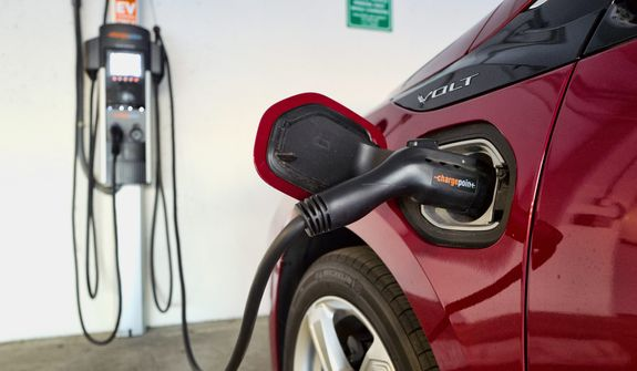 Lawmakers in Texas and North Carolina are the latest to push for increases in fees for hybrid and electric vehicles. However, that push is getting resistance from environmental groups who say the fees would discourage people from buying these vehicles. (ASSOCIATED PRESS)