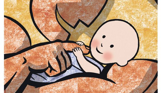 Illustration on fatherhood by Alexander Hunter/The Washington Times