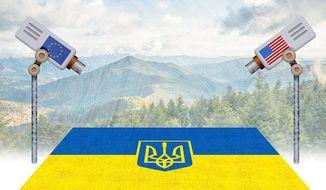 Ukraine Oversight Illustration by Greg Groesch/The Washington Times