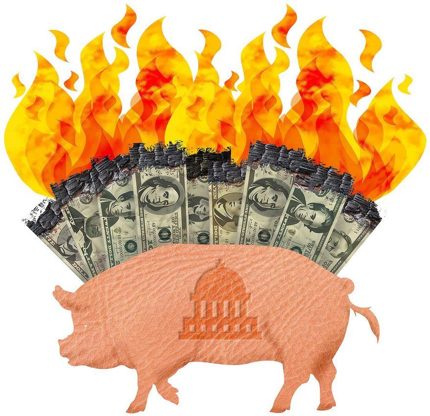 American Debt Illustration by Greg Groesch/The Washington Times