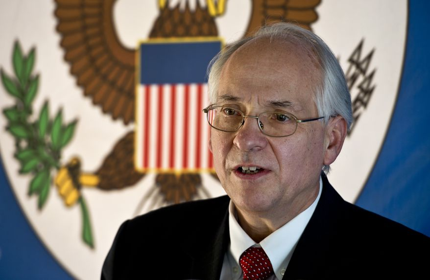 Donald Booth, the U.S. envoy to the crisis in Sudan, met Wednesday evening with representatives of the Transitional Military Council and the leading civilian protest group, the Forces of the Declaration of Freedom and Change. (Associated Press/File)