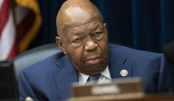 House Oversight and Reform Committee Chairman Elijah E. Cummings, D-Md., considers whether to hold Attorney General William Barr and Commerce Secretary Wilbur Ross in contempt for failing to turn over subpoenaed documents related to the Trump administration's decision to add a citizenship question to the 2020 census, on Capitol Hill in Washington, Wednesday, June 12, 2019. (AP Photo/J. Scott Applewhite) **FILE**