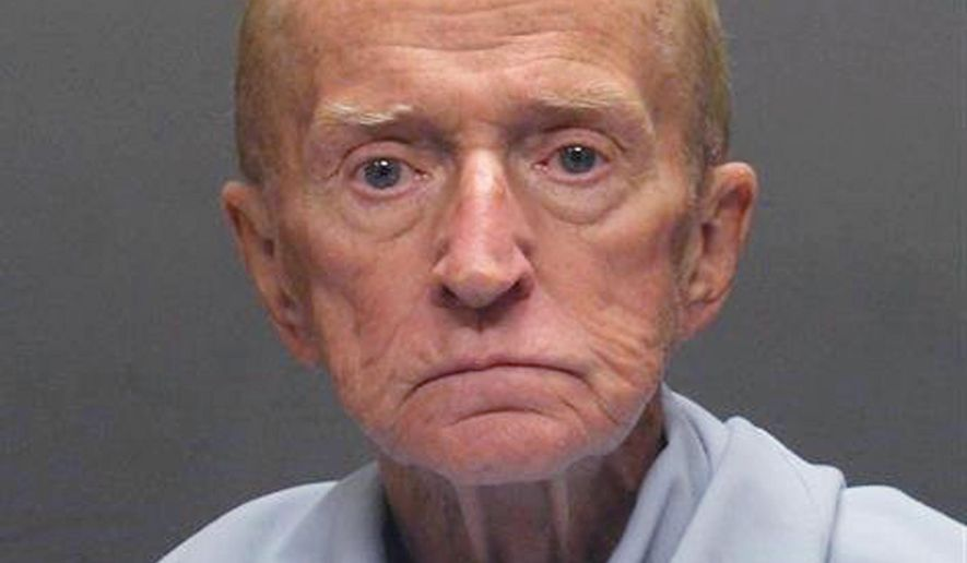FILE - This file photo released on Jan. 14, 2018, by the Tucson Police Department shows Robert Francis Krebs, who has a decades-long criminal record for stealing from banks. The 81-year-old is charged with robbing a credit union in Tucson in January 2018. Attorneys in his latest criminal case are arguing about whether Krebs is mentally competent to stand trial. (Tucson Police Department via AP, File)