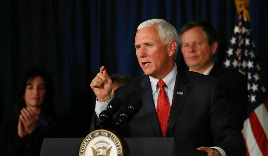 Vice President Mike Pence speaks during an event at RiverStone Health Lil Anderson Center in Billings, Mont. Wednesday, June 12, 2019. (Casey Page/Billings Gazette via AP) ** FILE **