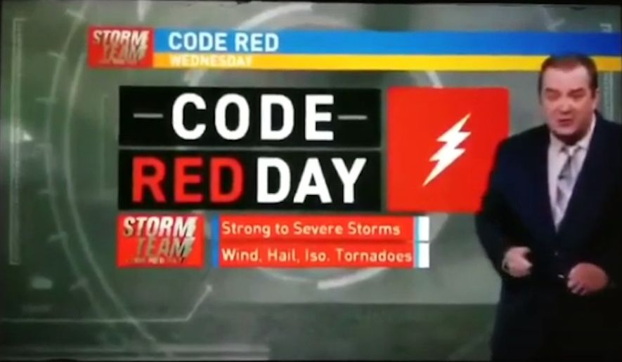 "Joe Crain, who has been a meteorologist at WICS in Springfield for the last 15 years, is now out of a job after his on-air criticism of his station's ""Code Red"" weather alerts went viral. (WICS)"