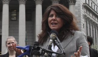 In this March 29, 2012, file photo author and political consultant Naomi Wolf speaks to reporters during a news conference in New York. (AP Photo/Mary Altaffer) ** FILE **