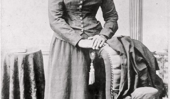 """FILE - This 1860-75 photo made available by the Library of Congress shows Harriet Tubman. Treasury Secretary Steven Mnuchin is calling """"completely erroneous"""" a report published Friday, June 14, 2019, that an initial 2020 deadline for completing the design of a $20 bill featuring Harriett Tubman could have been met. (Harvey B. Lindsley/Library of Congress via AP)"""