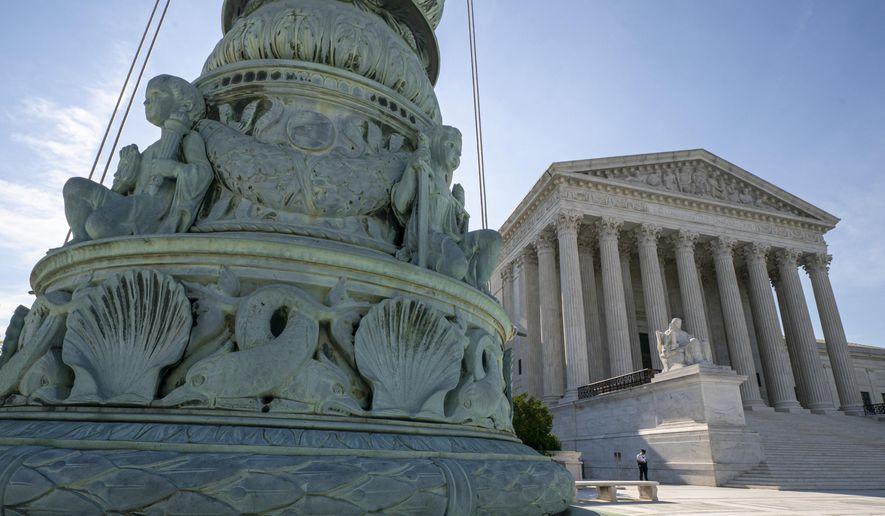 The U.S. Supreme Court is seen in Washington, Monday, June 17, 2019.  (AP Photo/J. Scott Applewhite) **FILE**