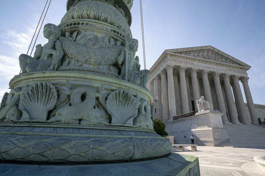 The U.S. Supreme Court is seen in Washington, Monday, June 17, 2019.  (AP Photo/J. Scott Applewhite) **FILE**