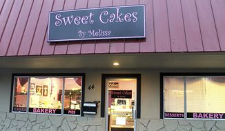 This Feb. 5, 2013, file photo, shows exterior of the now-closed Sweet Cakes by Melissa in Gresham, Ore.  (Everton Bailey Jr./The Oregonian via AP)