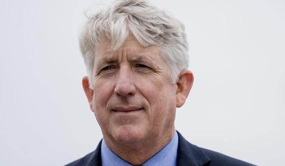 In this Feb. 26, 2018, file photo, Virginia Attorney General Mark Herring attends a news conference in Washington. (AP Photo/Andrew Harnik, File)