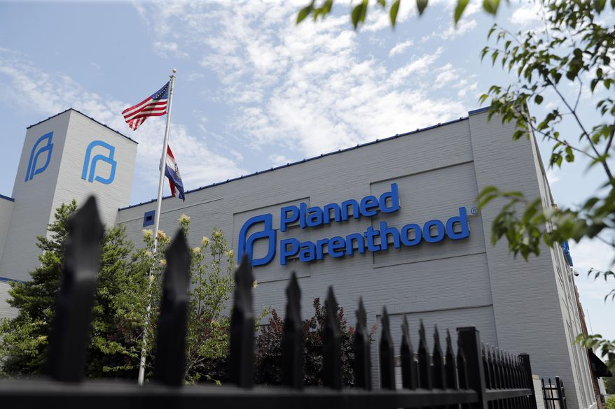 A Planned Parenthood clinic is seen Tuesday, June 4, 2019, in St. Louis. On Monday, June 10, 2019, a judge in St. Louis issued another order allowing Missouri's only abortion clinic to continue operating. Circuit Judge Michael Stelzer granted Planned Parenthood's request for a preliminary injunction, which extends his temporary restraining order prohibiting Missouri from allowing the clinic's license to lapse. (AP Photo/Jeff Roberson) ** FILE **
