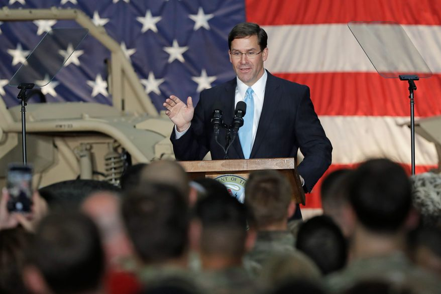 Secretary of the Army Mark T. Esper is set to take over as the acting secretary of defense for the Trump administration on Sunday. He will replace acting Defense Secretary Patrick M. Shanahan. (Associated Press)