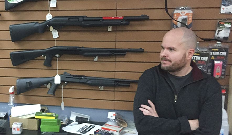 7. New Mexico, gun ownership rate: 49.9 percent                                          6. Montana, gun ownership rate: 52.3 percent                                                Firearms salesman Nathan Williams, 37, of Albuquerque, attends to customers at The Outdoorsman gun shop in Santa Fe, N.M., on Thursday, Jan. 5, 2017. Currents in the national debate over gun regulations are converging on New Mexico as the state Legislature prepares to meet. Under one proposal, federally licensed gun dealers would run background checks on sales between unlicensed sellers and buyers for a fee. (AP Photo/Morgan Lee)