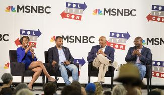 'MSNBC: Facts Still Matter' Panel during Politicon at The Pasadena Convention Center on Sunday, Aug. 30, 2017, in Pasadena, Calif. (Photo by Colin Young-Wolff/Invision/AP)