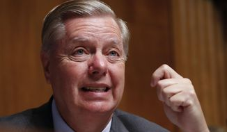 Chairman Sen. Lindsey Graham, R-S.C., questions Acting Department of Homeland Security Secretary Kevin McAleenan at the Senate Judiciary Committee on Capitol Hill in Washington, Tuesday, June 11, 2019. (AP Photo/Pablo Martinez Monsivais) ** FILE **