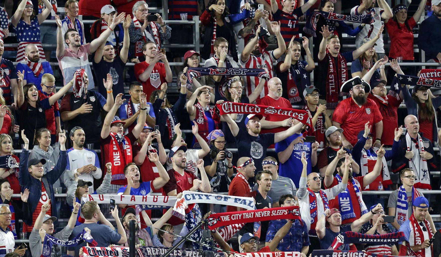 U.S. soccer fans chant 'F--- Trump' on live TV shot