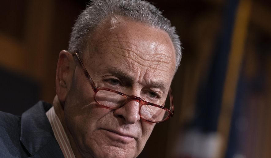 Senate Minority Leader Charles E. Schumer is shown in this undated file photo. (Associated Press/File) **FILE**