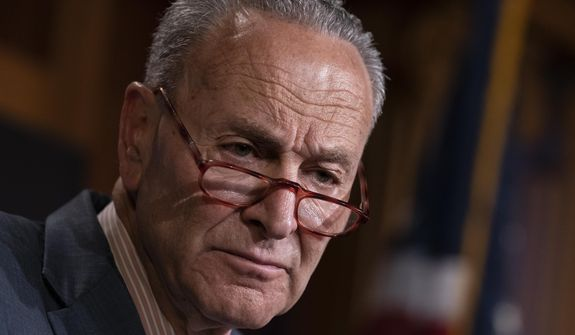 """Senate Minority Leader Charles E. Schumer publicly frets that President Trump might """"bumble"""" his way into war. (Associated Press/File)"""