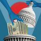 Congress Salary Adjustment Illustration by Linas Garsys/The Washington Times