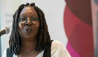 "Actress Whoopi Goldberg defended former Vice President Joseph R. Biden on ""The View."" She said Mr. Biden's longtime association with former President Barack Obama demonstrated that Mr. Biden wasn't a racist. (AP Photo/Mary Altaffer) ** FILE **"