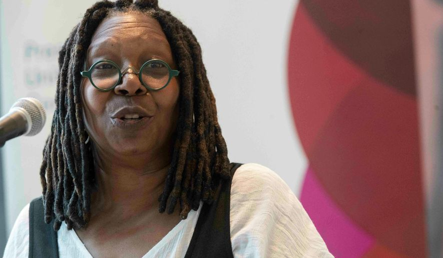 """Actress Whoopi Goldberg defended former Vice President Joseph R. Biden on """"The View."""" She said Mr. Biden's longtime association with former President Barack Obama demonstrated that Mr. Biden wasn't a racist."""