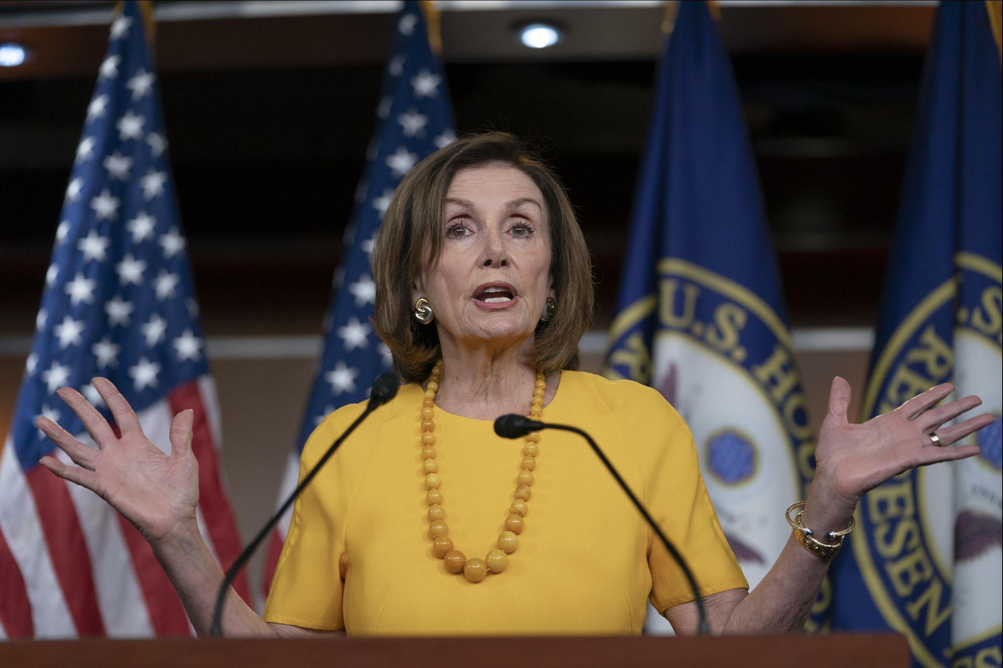 photo image Nancy Pelosi, Democrats agree to some Trump border funding