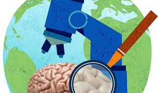 Science Brain Illustration by Greg Groesch/The Washington Times