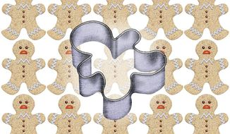 Identical Cookies Illustration by Greg Groesch/The Washington Times