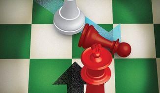 Iran Strategy Illustration by Linas Garsys/The Washington Times