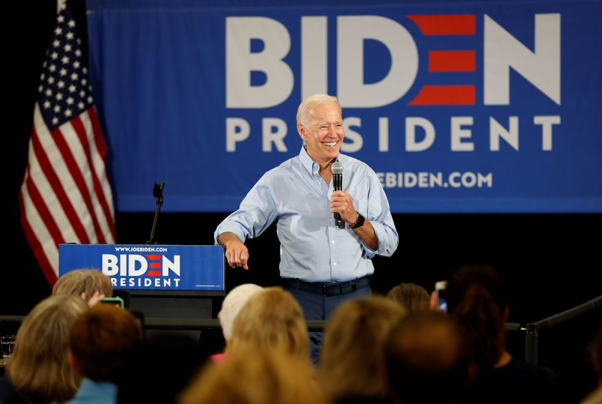Democratic presidential candidate Joseph R. Biden has distanced himself from much of his work as a senator. (Associated Press)