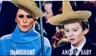 """Comedian George Lopez told his 1.2 million fans on Instagram that President Trump has an """"anchor baby"""" problem that should be looked at by immigration officials. Mr. Trump, however, has not had children with illegal immigrants. (Image: Instagram, George Lopez)"""