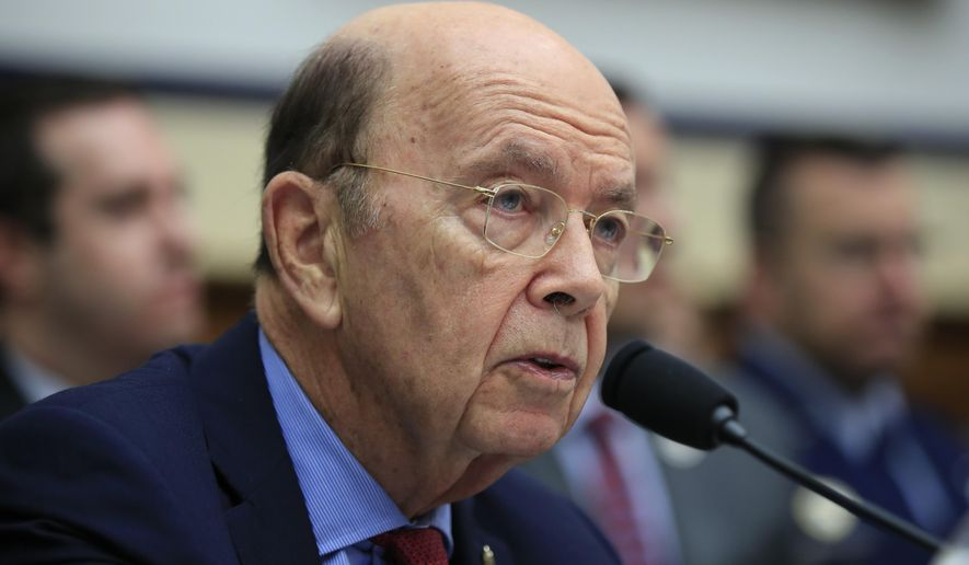 FILE - In this June 22, 2018, file photo, Commerce Secretary Wilbur Ross, testifies on Capitol Hill in Washington. Questions and answers about the citizenship question the Trump administration wants to add to the census as the Supreme Court decides whether it can.(AP Photo/Manuel Balce Ceneta, File)