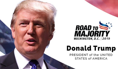 """As he has for the last three years, President Trump will appear at the Faith and Freedom Coalition's annual """"Road to Majority"""" conference, which opens Wednesday in the nation's capital."""