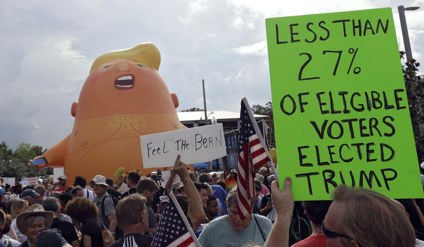 Baby Trump blimp to visit Copenhagen despite president's cancellation