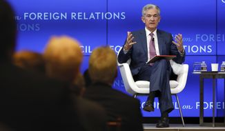 Federal Reserve Chair Jerome Powell speaks on the economy outlook and monetary policy review at the Council on Foreign Relations, in New York, Tuesday, June 25, 2019. (AP Photo/Richard Drew)