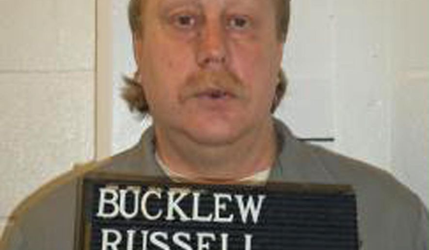 This undated photo provided by the Missouri Department of Corrections shows Russell Bucklew. The Missouri Supreme Court on Tuesday, June 25, 2019, set an execution date of Oct. 1 for Russell Bucklew for killing a man in 1996. Bucklew suffers from a rare medical condition and has argued that his execution would cause unconstitutionally cruel pain and suffering. The U.S. Supreme Court ruled in April that Bucklew could be put to death. (Missouri Department of Corrections via AP, File)