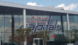 An outside shot of MedStar Capitals Iceplex in Arlington, Virginia. (Photo by Adam Zielonka / The Washington Times)