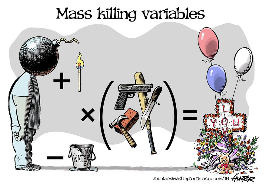 Illustration by Alexander Hunter for The Washington Times (published June 26, 2019)